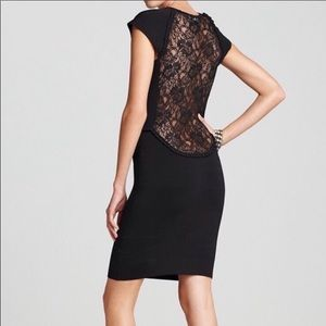 French Connection Lace Back Black Dress Sz. 6